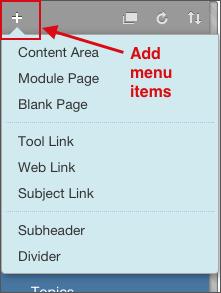 Add menu items