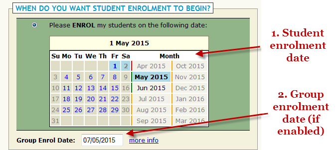 When Do You Want Student Enrolment To Begin?