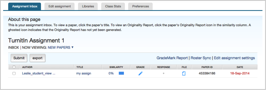 turnitin assignment by groups