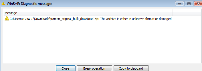 bulk download error