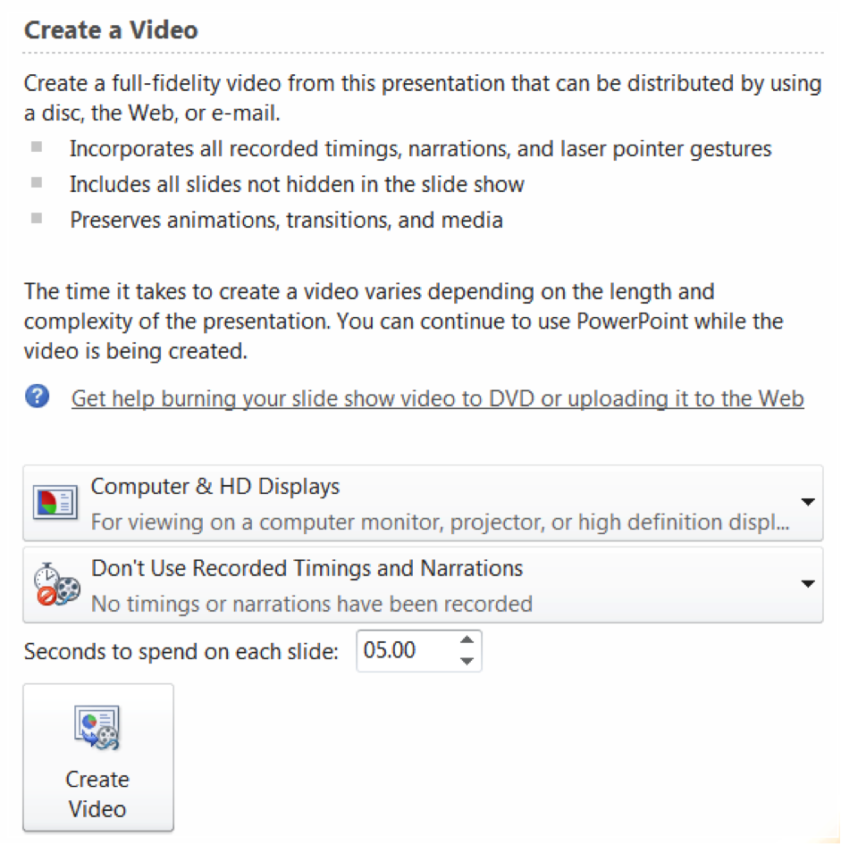 voice narrated powerpoint using office 365 for pc utsonline help