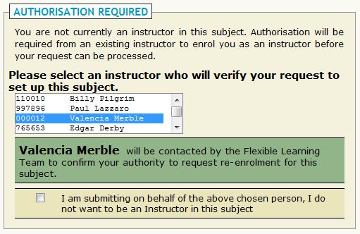 Authorisation required