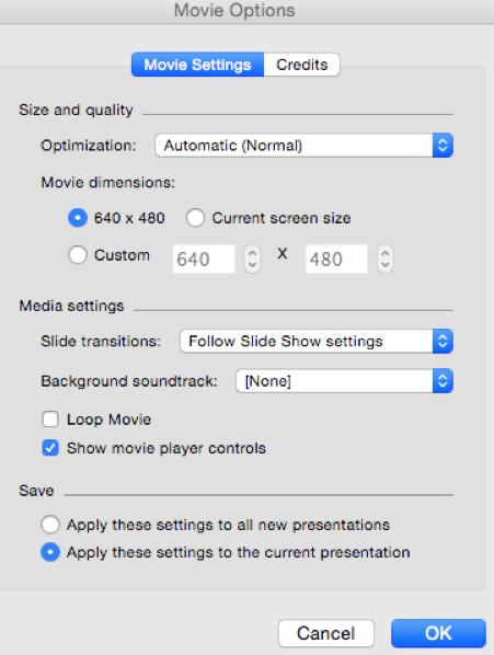 movieoptionsformac - UTSOnline Help