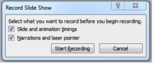 record slide show