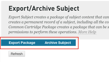 Export Archive Options