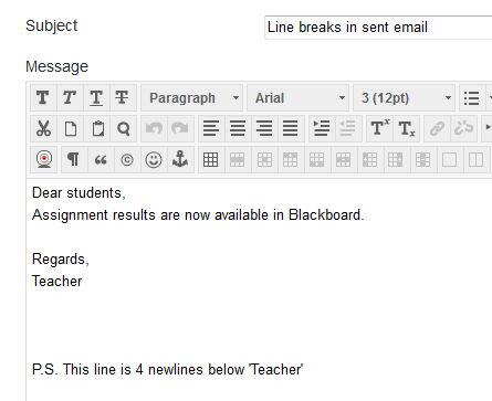 Instructor creates an email via the Send Email tool