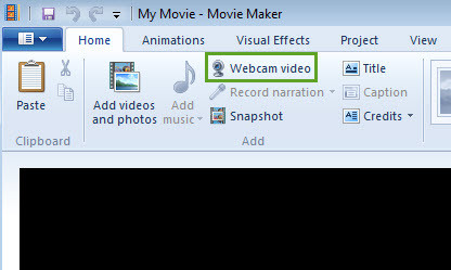 Select Webcam Video
