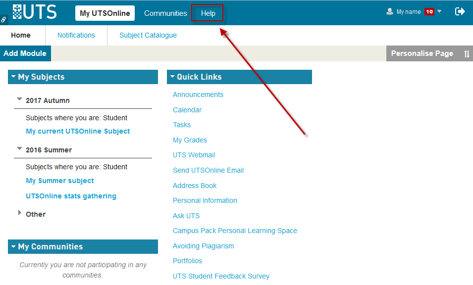 <span style=&quot;font-size:1.5em&quot;>Search for guides and video tutorials within the <strong>UTSOnline Help</strong> pages (3/6)</span>