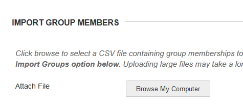 Import Groups Members upload