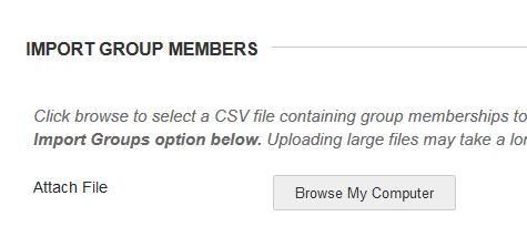 Import Groups Members upload