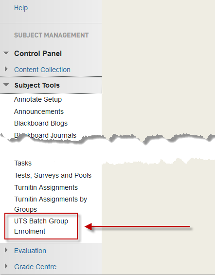 The UTS Batch Group Enrolment tool