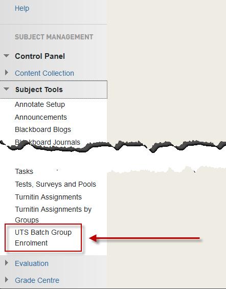 The UTS Batch Group Enrolment tool