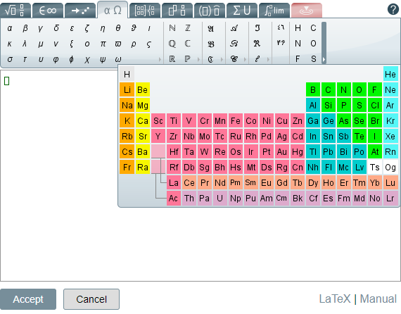 Chemistry notation tools