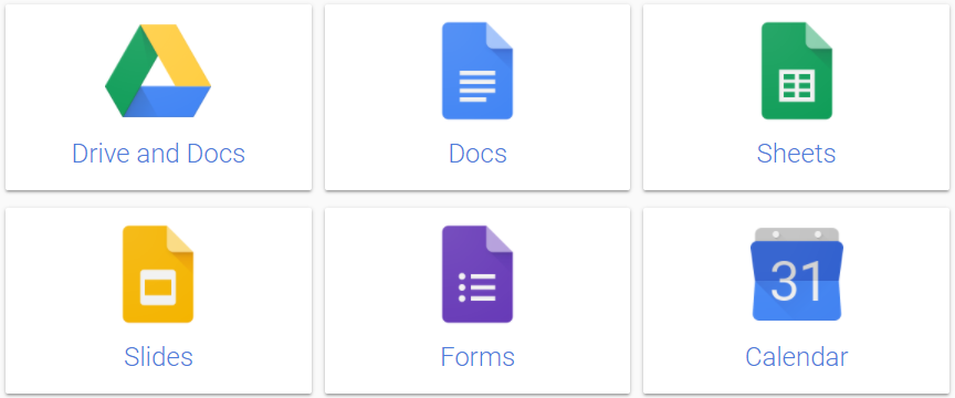 G Suite contains Google Drive and more
