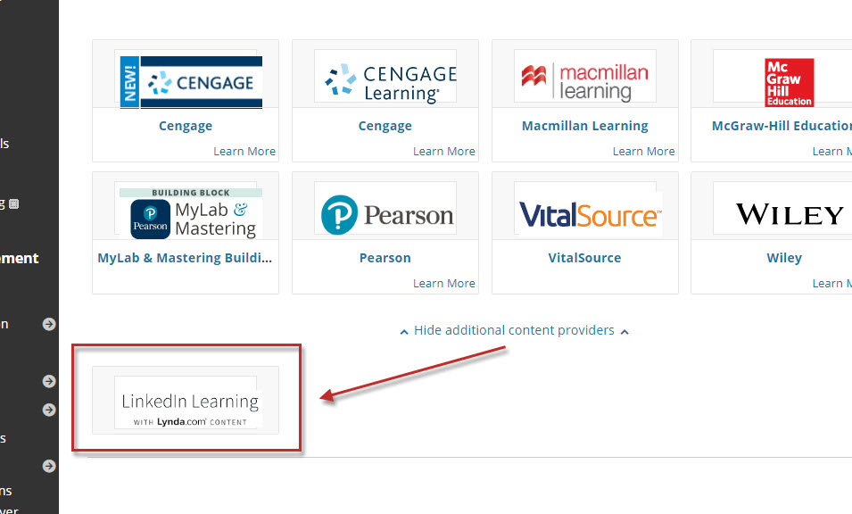 Step 3 of 7: Select LinkedIn Learning. This will take you to the Browse page.